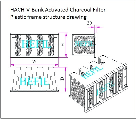 HACH-V-Bank Activated Charcoal Filter
