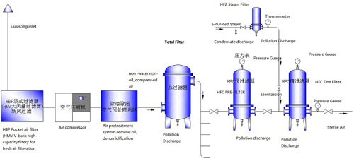 Sterile Compressed Air Filter System